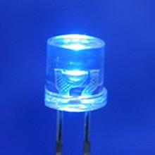 5mm Flat Top Led Blue Clear