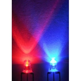 3mm Bi-Color LED Clear Red / Blue Common Anode