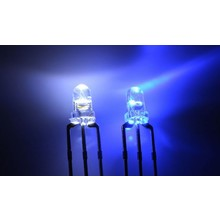 3mm Bi-color Led Blauw/Wit Common Kathode
