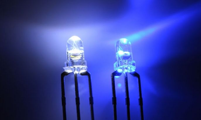 3mm Bi-color Led Blue/White Common Kathode