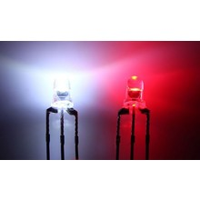 3mm Bi-color Led Rood/Wit Common Kathode