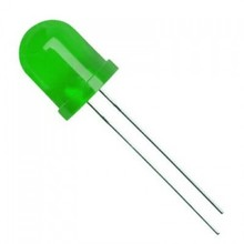 Round Led Colloured Diffused Green 10mm