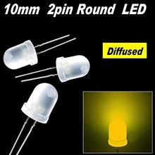 Ronde Led Wit Diffuus Geel 10mm