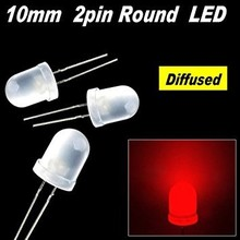 Ronde Led Wit Diffuus Rood 10mm
