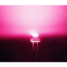 5mm Straw Hat Led Pink Clear