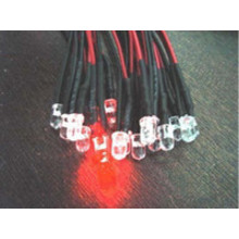 Pre wired led 3mm rood helder
