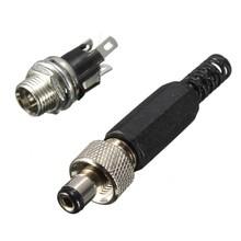 DC Power Plug en Connector met schroef verbinding 2,1x5,5mm
