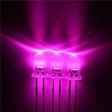 3mm Round Led Pink Clear
