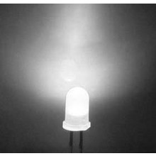 Round Led Diffused Cold White 3mm
