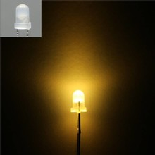 3mm Round Led Warm White Colored Diffuse