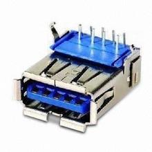 USB 3.0 Connector Female Haaks 90 graden
