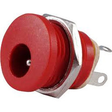 DC Power Connector 2,1 x 5,5mm Red