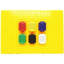 6 Mini breadboards met bodemplaat 25 pins