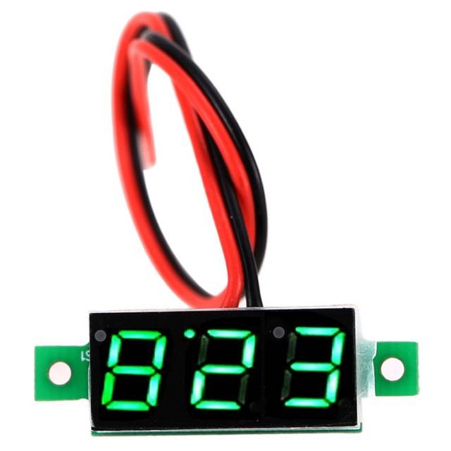 0.28inch 3.5-30V Two Wire DC Voltmeter Green