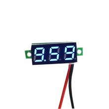 0.28inch 3.5-30V Two Wire DC Voltmeter Blue