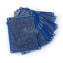 PCB Dubbelzijdig Blauw 4x6cm FR4