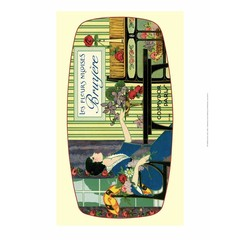 Vintage Art Deco Label, Les Fleurs Nicoises
