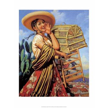 Retro Mexican Poster,