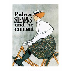 Vintage Bicycle Poster, Stearns