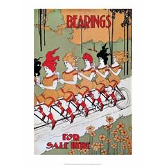Vintage Bicycle Poster, Bearings