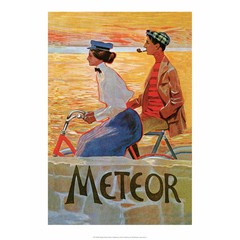 Vintage Bicycle Poster, Meteor