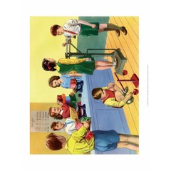 Vintage Classroom Poster - School Playground, Shadows