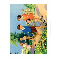 Vintage Classroom Poster - Picking Daisies
