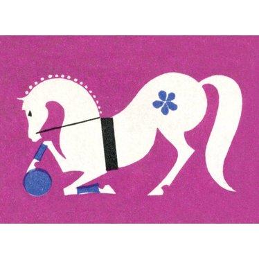 Russian Circus Horse Matchbox, Magnet