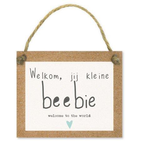 Bloemen- & Kadokaartjes Tell it - Welkom, jij kleine beebie welcome to the world