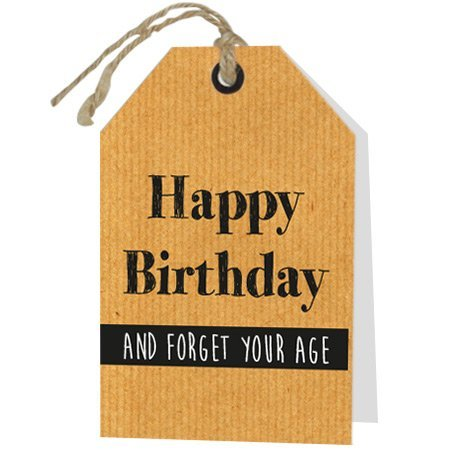 Wenskaarten Rebel30 - Happy Birthday and forget your age