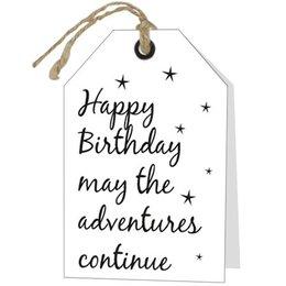 Happy Birthday may the adventures continue