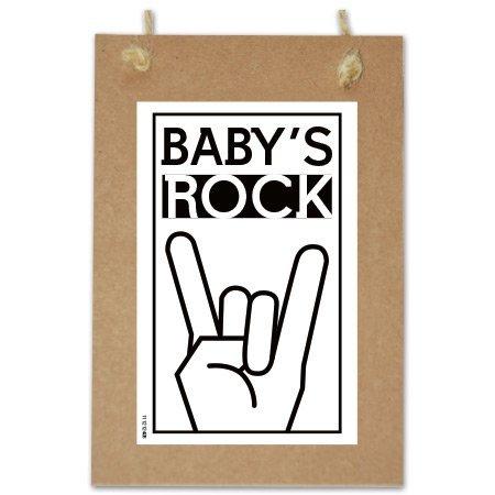 Wenskaarten Quote - Baby rock