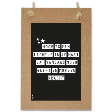 Wenskaarten Quote - Hoop is een lichtje in je hart