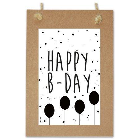 Wenskaarten Quote - Happy birthday