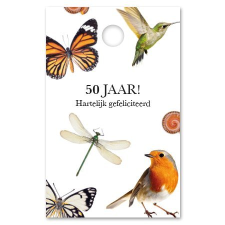 Botanic Kadokaartjes Botanic - 50 jaar! hartelijk gefeliciteerd