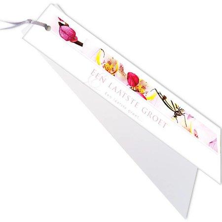 Emotions Emotions kleine ribbon - roze orchidee - Een laatste groet