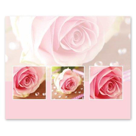 Romance Bloemen- & Kadokaartjes Romance - Roze roos parels
