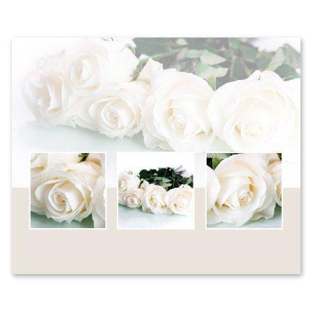 Romance Bloemen- & Kadokaartjes Romance - Witte rozen