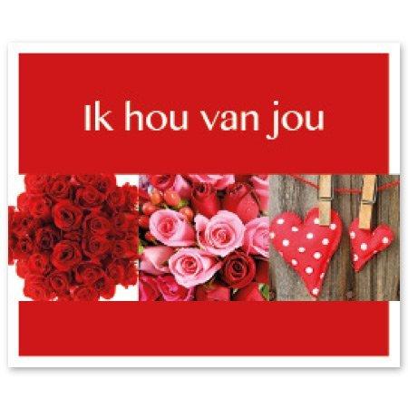 Favourite Bloemen- & Kadokaartjes - Favourite - Ik hou van jou