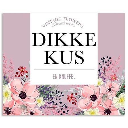 Vintage Flower Cards Kadokaartjes Vintage Flowers -  Dikke kus