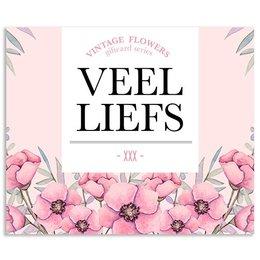 Vintage Flower Cards Veel liefs xxx