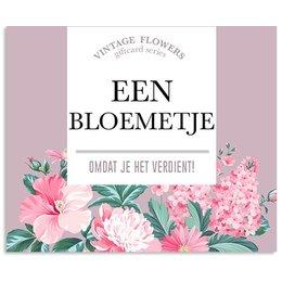 Vintage Flower Cards Een bloemetje omdat je het verdient!