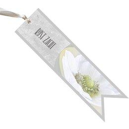 condoleance rust zacht - witte bloem