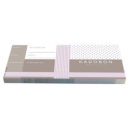 Cheque Kadobonnen - Purple stripes & Dots