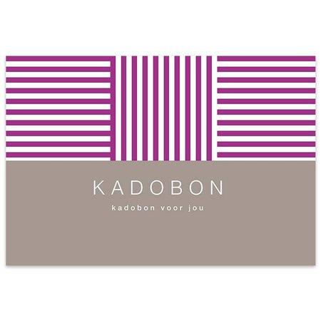 Fortuna Kadobonnen - Purple stripes