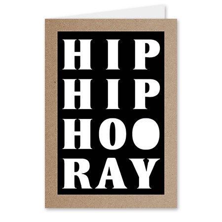 Kadokaartje Quote - Hip hip hoo ray