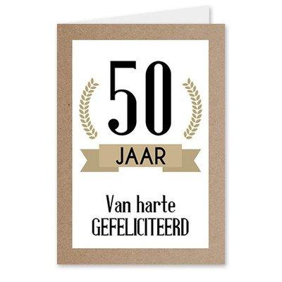 50 jaar, van harte gefeliciteerd
