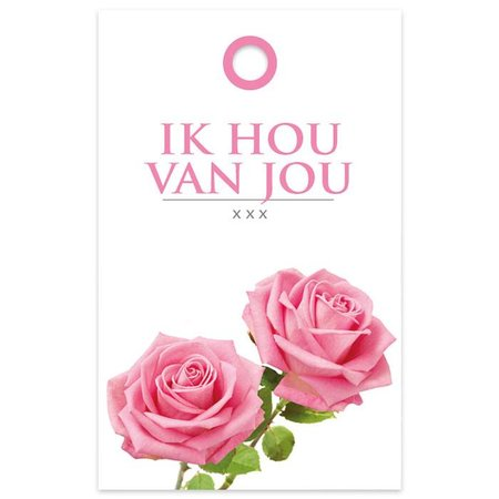 """Basic"" Fleur Kadokaartjes 'Basic' Fleur - Ik hou van jou"