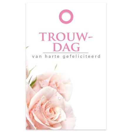 """""""Basic"""" Fleur Kadokaartjes 'Basic' Fleur  - Trouwdag"""
