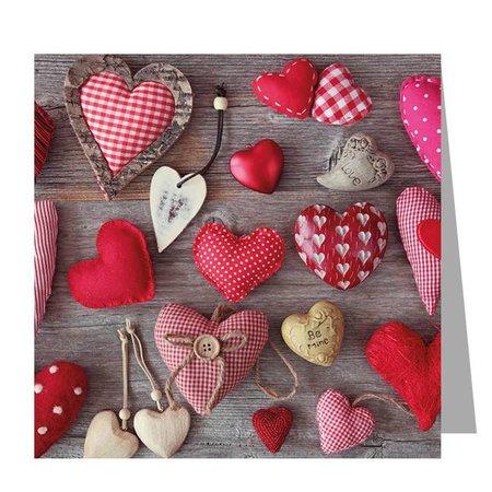 Gelegenheden Kadokaartjes - Valentijn - Heart collage
